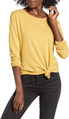 BP Knotted Long Sleeve Tee