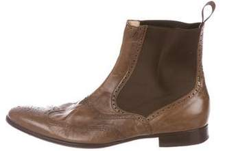 Dolce & Gabbana Leather Brogue Chelsea Boots