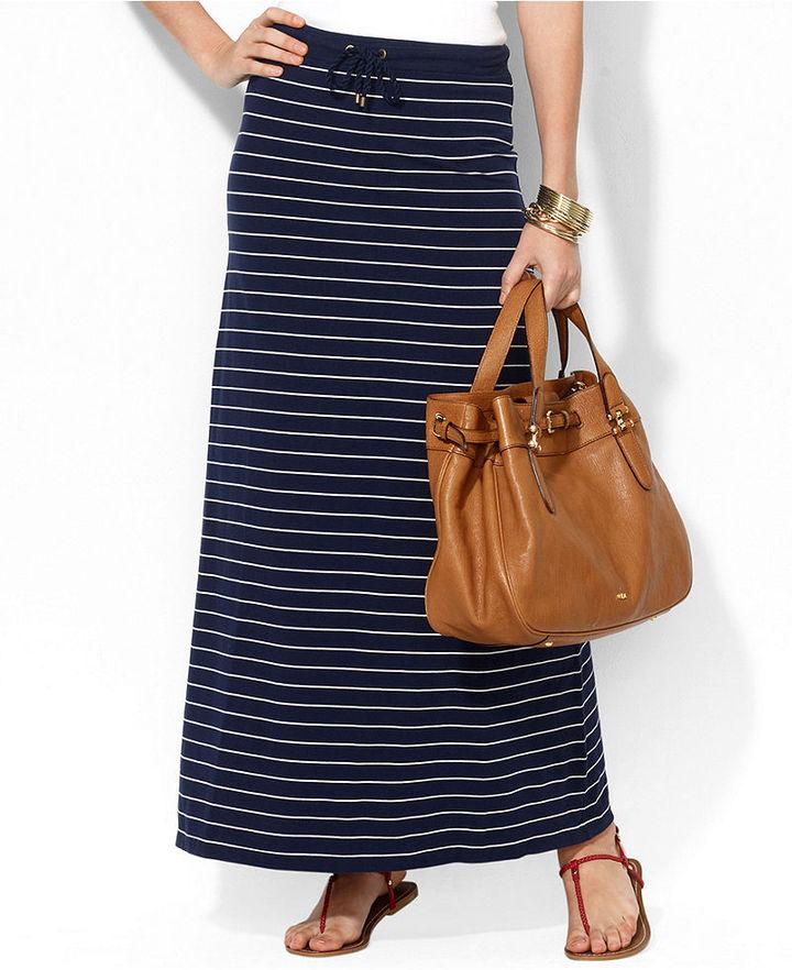 Lauren Ralph Lauren Skirt, Striped Maxi