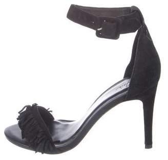 Joie Fringe Ankle Strap Sandals