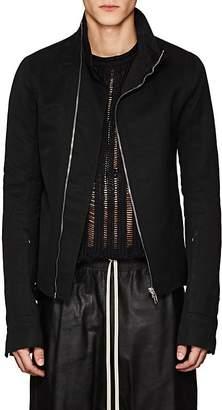 Rick Owens Men's Mollino Cotton-Blend Moto Jacket