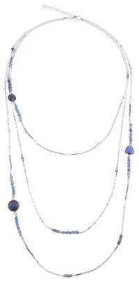 Nakamol Design Agate & Crystal Triple Strand Necklace