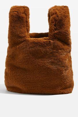 Topshop DOLLY Faux Fur Small Grab Tote Bag
