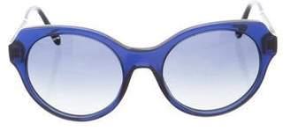 Miu Miu Round Gradient Sunglasses w/ Tags