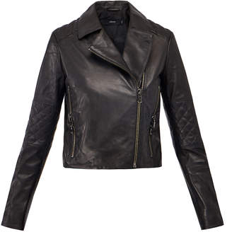 J Brand Adaire Black Leather Jacket