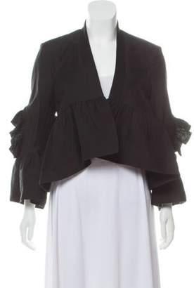 Rachel Comey Ruffle-Trimmed Peplum Blazer w/ Tags Black Ruffle-Trimmed Peplum Blazer w/ Tags