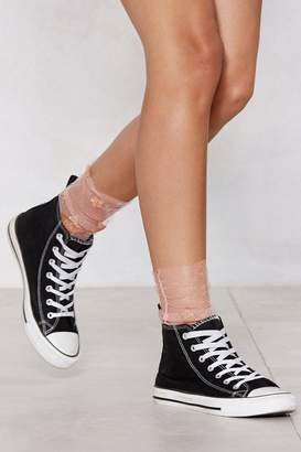 Nasty Gal To the Stars and Back Sheer Socks
