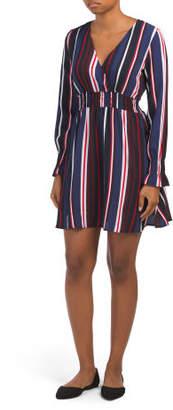 Juniors Striped Smocked Waist Dress