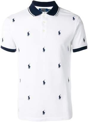 Polo Ralph Lauren logo print polo shirt