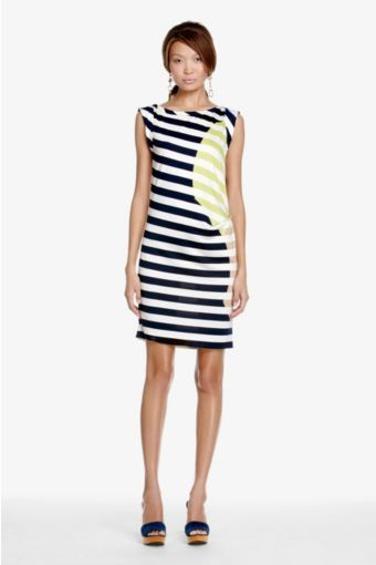 Graca Dress in Giant Balloon Stripe