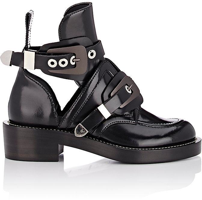 Balenciaga Balenciaga Women's Double-Buckle-Strap Boots-Black