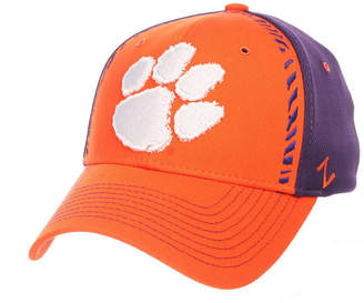 Zephyr Clemson Tigers Pattern Pipe Stretch Cap