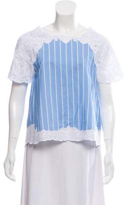 Jonathan Simkhai Striped Short Sleeve Top w/ Tags