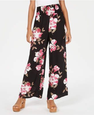 American Rag Juniors' Floral Wide-Leg Pants