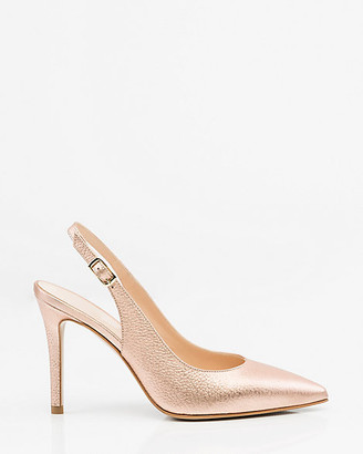 Le Château Italian-Made Leather Slingback Pump