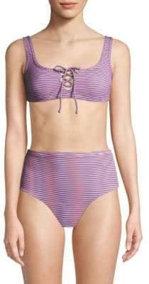 Onia Erin Striped Bikini Top