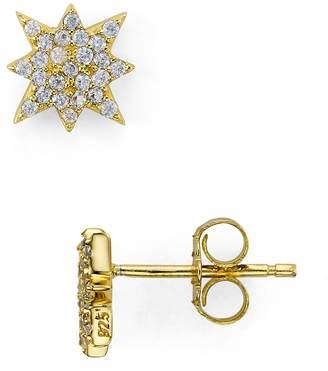 Aqua Sterling Silver Starburst Stud Earrings - 100% Exclusive