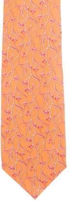 Salvatore Ferragamo Floral Print Silk Tie