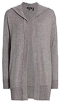 Theory Women's Hooded Open-Front Cardigan