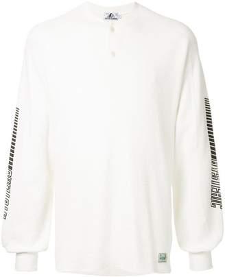 Hysteric Glamour button neckline sweatshirt