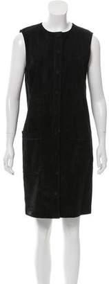 Helmut Lang Suede Sleeveless Mini Dress
