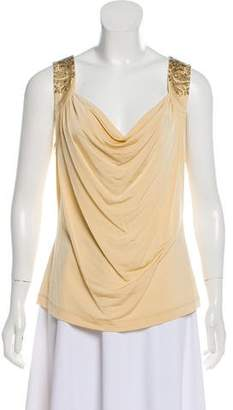 Just Cavalli Embroidered Draped Top w/ Tags