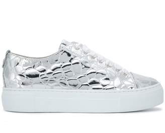 AGL textured metallic sneakers
