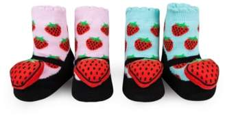 Waddle 2-Pack Strawberry Rattle Socks