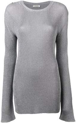 Nina Ricci ribbed elongated sleeve sweater