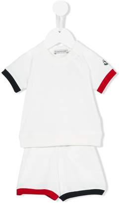 Moncler colour block shorts set