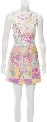 Tibi Abstract Print Mini Dress
