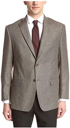 Franklin Tailored Men's Brown Small Check Sport Coat