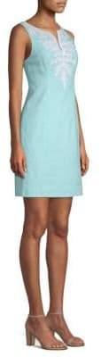 Lilly Pulitzer Gabby Embellished Silk Shift Dress