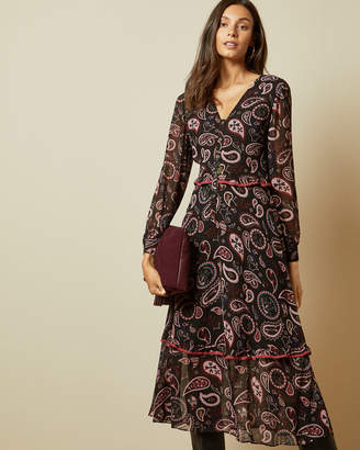 Ted Baker LIMERI V neck printed dress