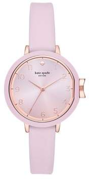 Kate Spade Park Row Three-Hand Silicone Strap Watch