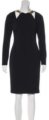 Halston Knee-Length Cocktail Dress w/ Tags