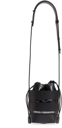 Paco Rabanne Small Mirror Cage Faux Leather Hobo Bag