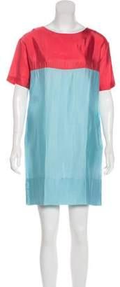 Marni Colorblock Short Sleeve Dress