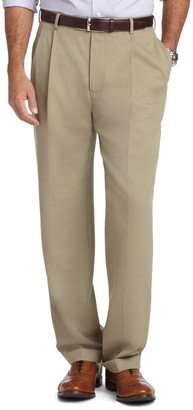 Brooks Brothers Madison Fit Pleat-Front Unfinished Gabardine Trousers