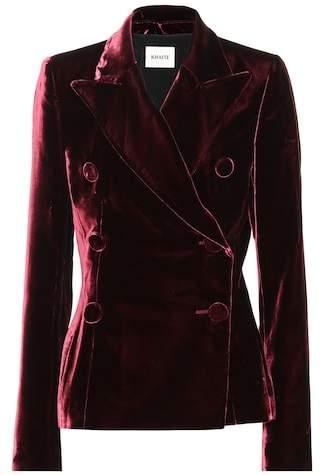Khaite The Cathy velvet blazer