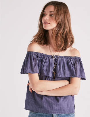 Lucky Brand Ruffle Off Shoulder Top