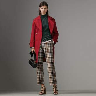 Burberry Scarf-print-lined Tropical Gabardine Trench Coat