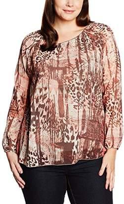 Via Appia Women's T-Shirt Rundhals Langarm Druck Crew Neck Long Sleeve T-Shirt - Multi-Coloured - 24