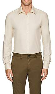 Luciano Barbera Men's Cotton-Cashmere Shirt - Cream