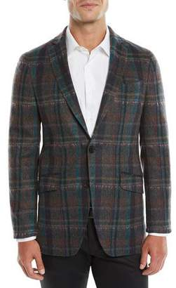 Etro Melange Plaid Sport Coat