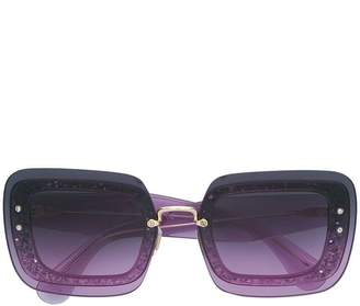 Miu Miu (ミュウミュウ) - Miu Miu Eyewear oversized glitter sunglasses