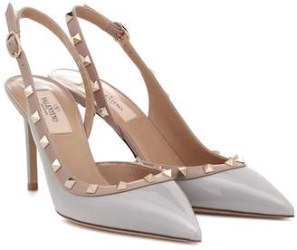 8100494cdc8 Valentino Rockstud leather slingback pumps