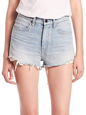 Alexander Wang Women's Denim X Bite High-Rise Frayed Shorts