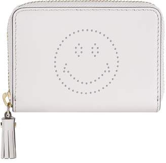 Anya Hindmarch Smiley Small Zip-Around Wallet