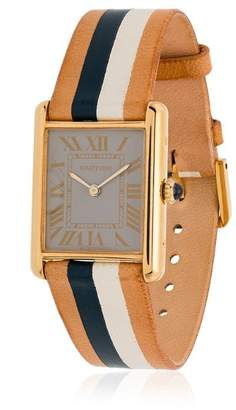 Cartier La Californienne Marnier 18K gold plated watch